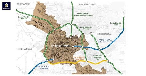 Bản đồ tuyến cao tốc Dầu Giây-Liên Khương, khởi công năm 2019