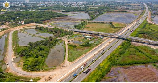 Hình ảnh trên cao tuyến cao tốc TP.HCM - Long Thành - Dầu Giây