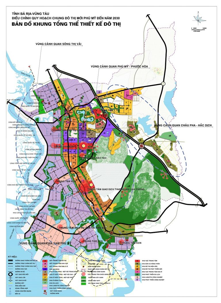 Bản đồ khung tổng thể thiết kế đô thị